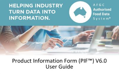 AFGC PIF V6 User Guide now available